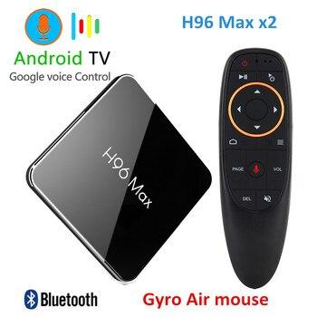 H96 Max x2 Smart TV BOX Android 8.1 Amlogic S905X2 LPDDR4 Quad Core 4 GB 32 GB 64 GB 2.4G & 5 GHz Wifi 4 K Set top box PK X96 MAX