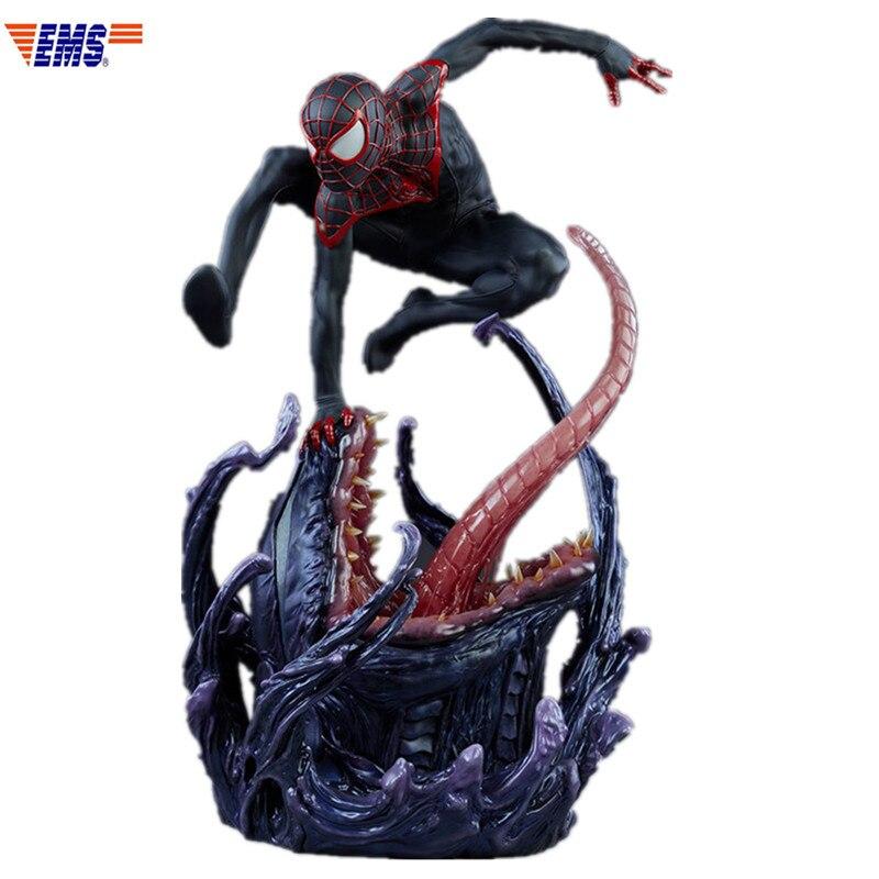 Prevendita Ultimate Spider-Man Superhero Miles Morales Spider-Man Statue In Resina Modello Giocattolo (Periodo di Consegna: 60 giorni) X801Prevendita Ultimate Spider-Man Superhero Miles Morales Spider-Man Statue In Resina Modello Giocattolo (Periodo di Consegna: 60 giorni) X801