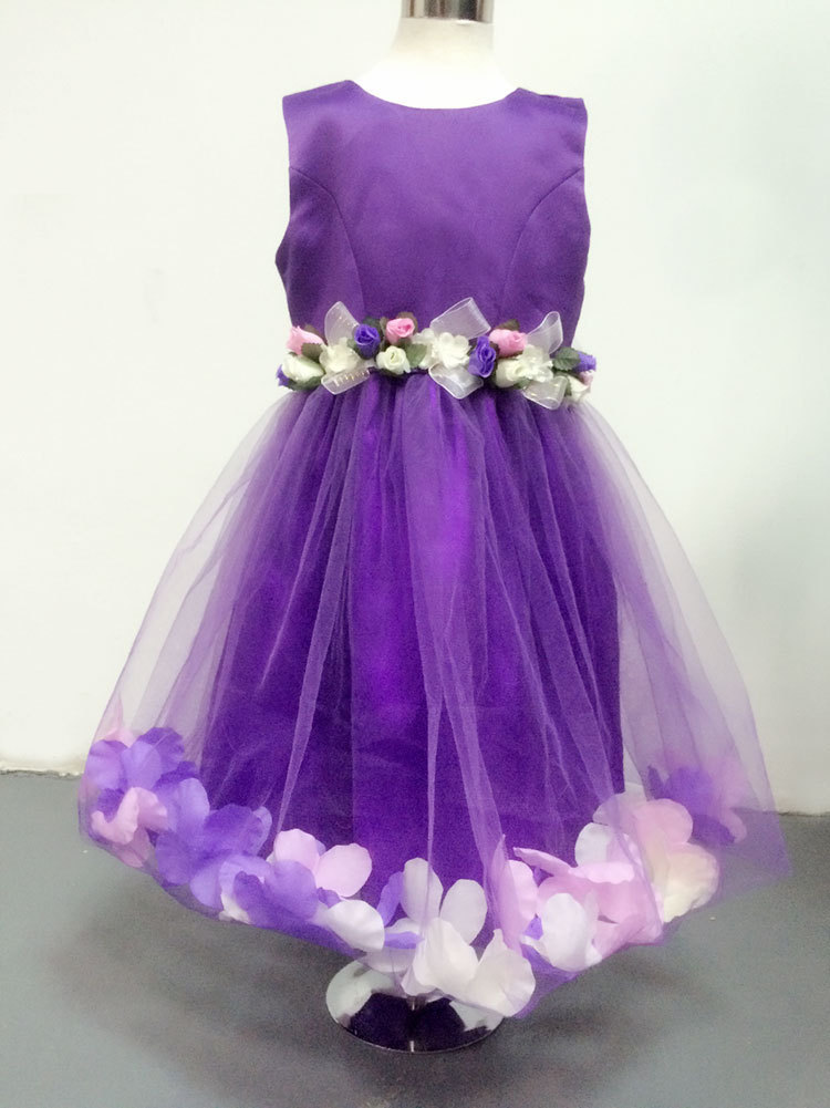 Luxury Rose Decoration Flower Girl Dresses Children Dresses Kids For ...