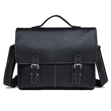 100% Guarantee Genuine Leather Free Ship Mens Briefcase Handbag Laptop Bag  #7090A