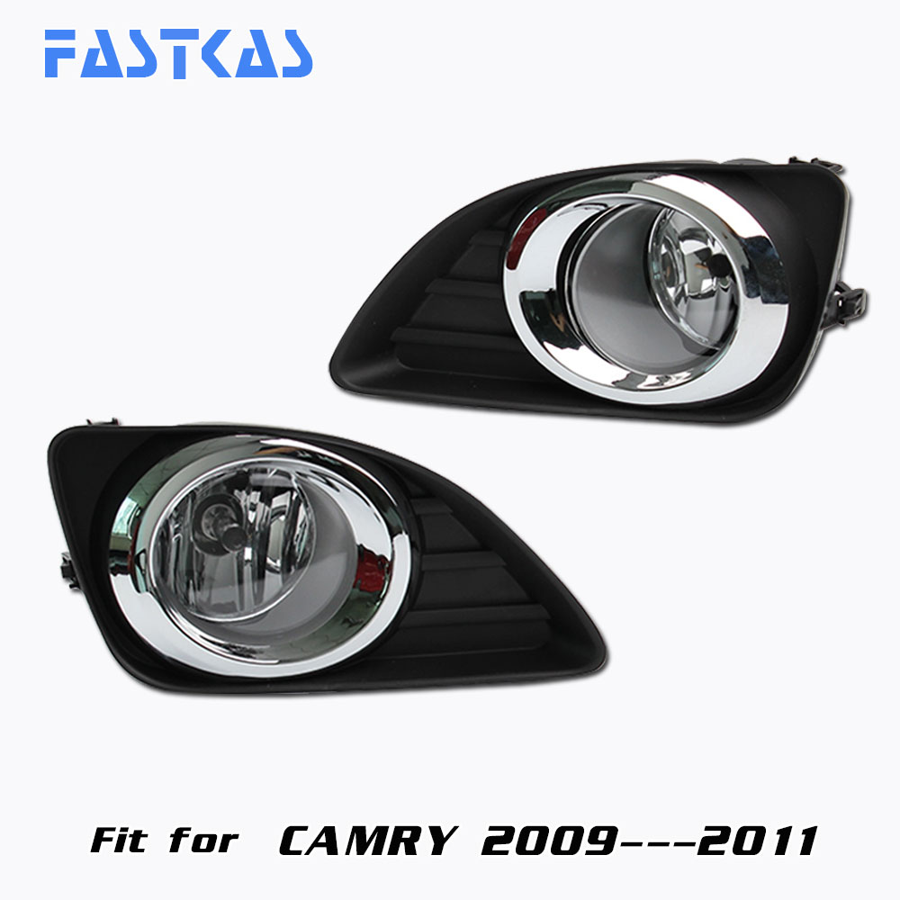 12v Car Fog Light Assembly for Toyota Camry 2009 2010 2011 Front Left and Right Fog Light Lamp with Harness Fog Light 12v 55w car fog light assembly for ford focus hatchback 2009 2010 2011 front fog light lamp with harness relay fog light