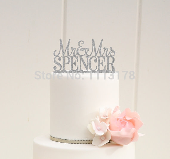 personalised silver wedding cake toppers aliexpress buy silver glitter wedding cake topper mr 18223