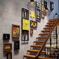 SUFEILE decoración de tienda marco de foto pared Bar barbacoa tienda decoración marco de foto para pared Vintage escalera pared combinación marco de foto D25