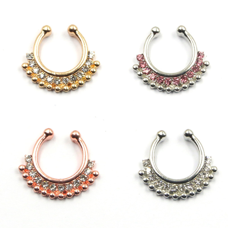 Top Quality Mixed Designs Fake Nose Ring Septum Clip on Body ...