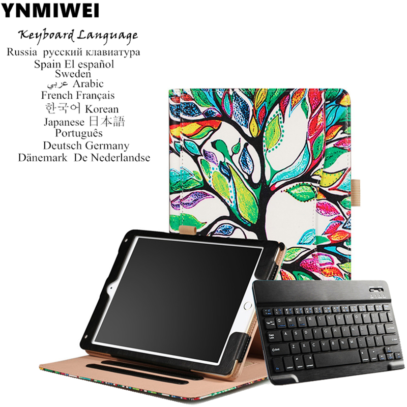 Tablet Case For Apple iPad Pro 10.5 Bluetooth Keyboard Cover Colorfull Print For iPad Pro 10.5 2017 Stand Leather Case bluetooth keyboard stand leather tablet case folding stand leather cover for apple ipad air tablets protective sleeve pen