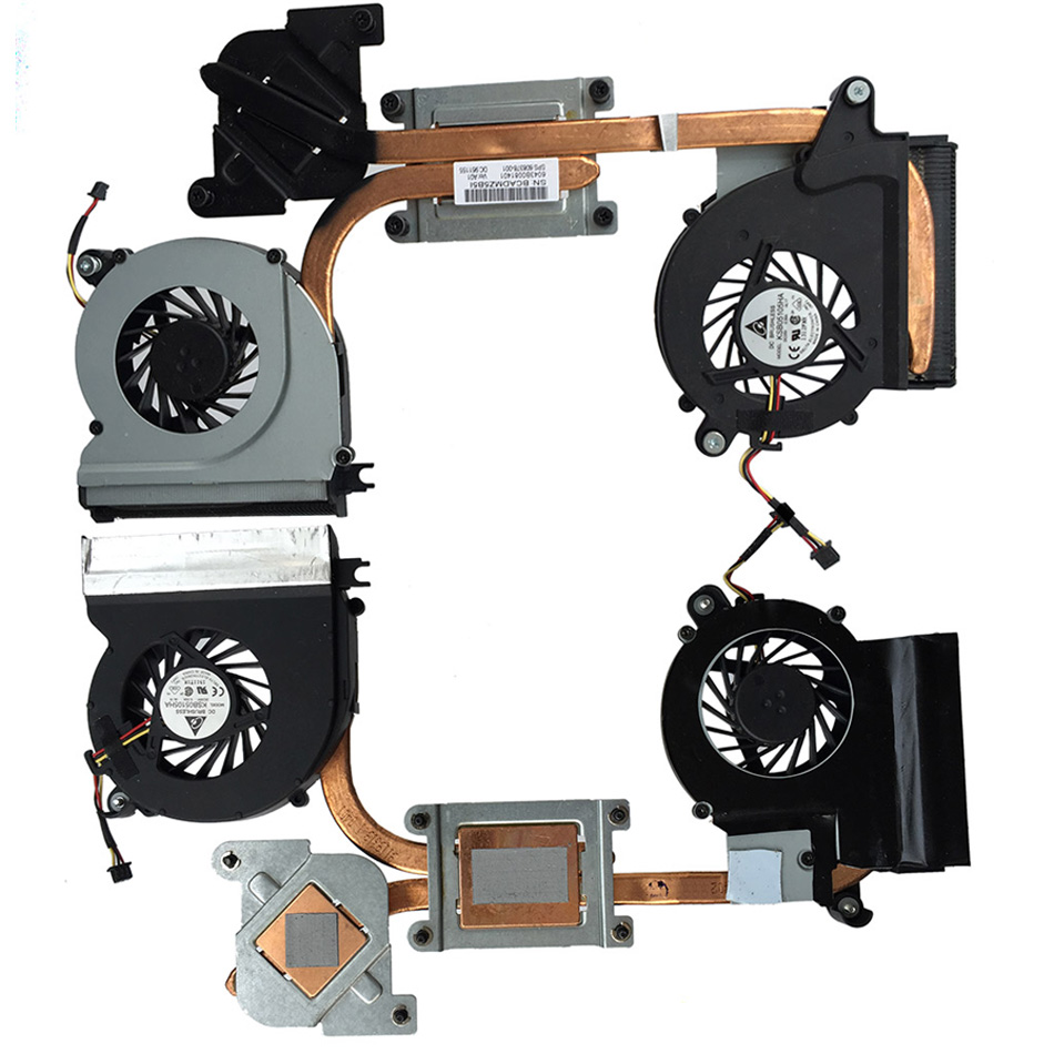 New CPU Cooling Fan For HP Envy 14 14T & Heatsink 608378-001 / DC5V 0.35A 3pins new forcecon dfs551005m30t fadl cooling fan for hp cq43 cq57 647316 001 cpu cooling fan with heatsink