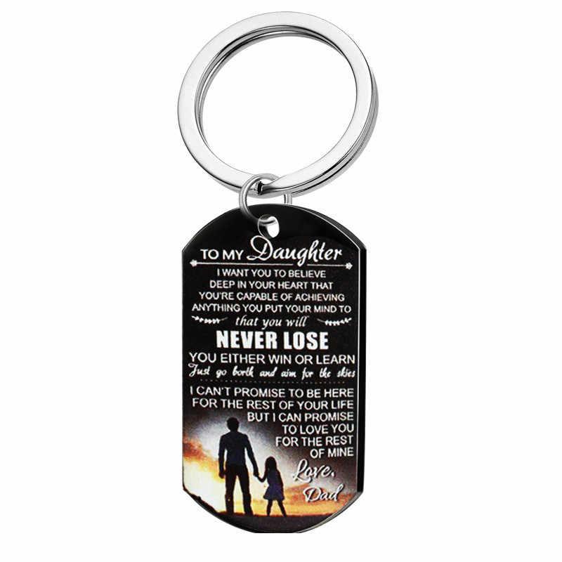 สุนัข Tags สร้อยคอจี้เครื่องประดับสำหรับครอบครัวของฉันลูกสาว I Want You To Believe Love Dad Mom สร้อยคอทหารกองทัพการ์ด