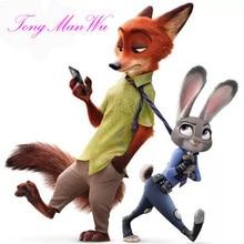 Zootopia/ Zootropolis 25cm And 45cm New Animal l Judy Rabbit Plush Toy Dolls Nick Pillow Birthday Gift For Child