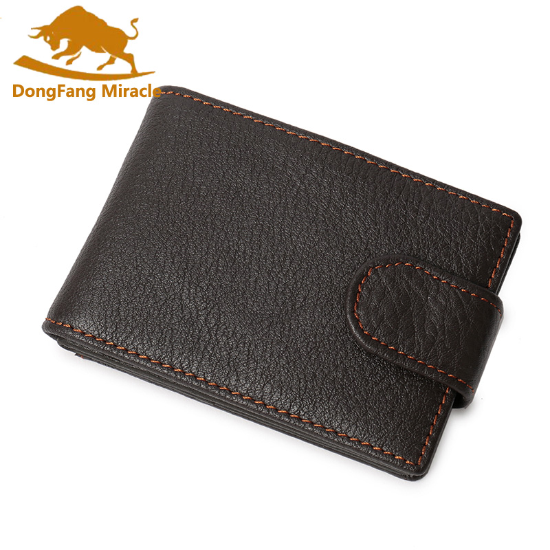 DongFang Miracle Genuine Leather Business Cards Holders Cards Package Short Style 2 Folds Credit Card Holder Document Holder