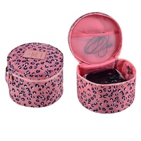 Waterproof Nylon Leopard Print Necessaire Women Cosmetic Bag Makeup Underwear Organizer Travel Bags Female Wash Pouch