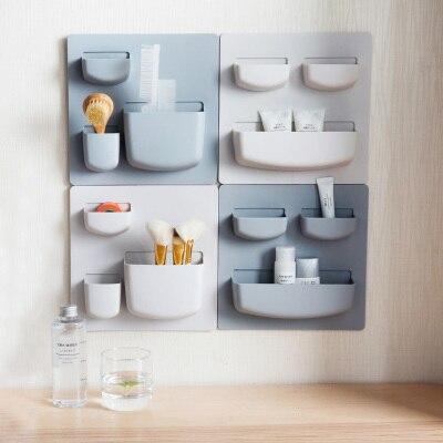 2 unids/set creativo decorativo gancho de pared estantería 3 M ...