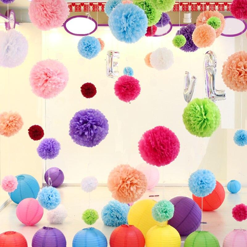 ajp cm unidslote papel tissue pompn bolas de flores para el