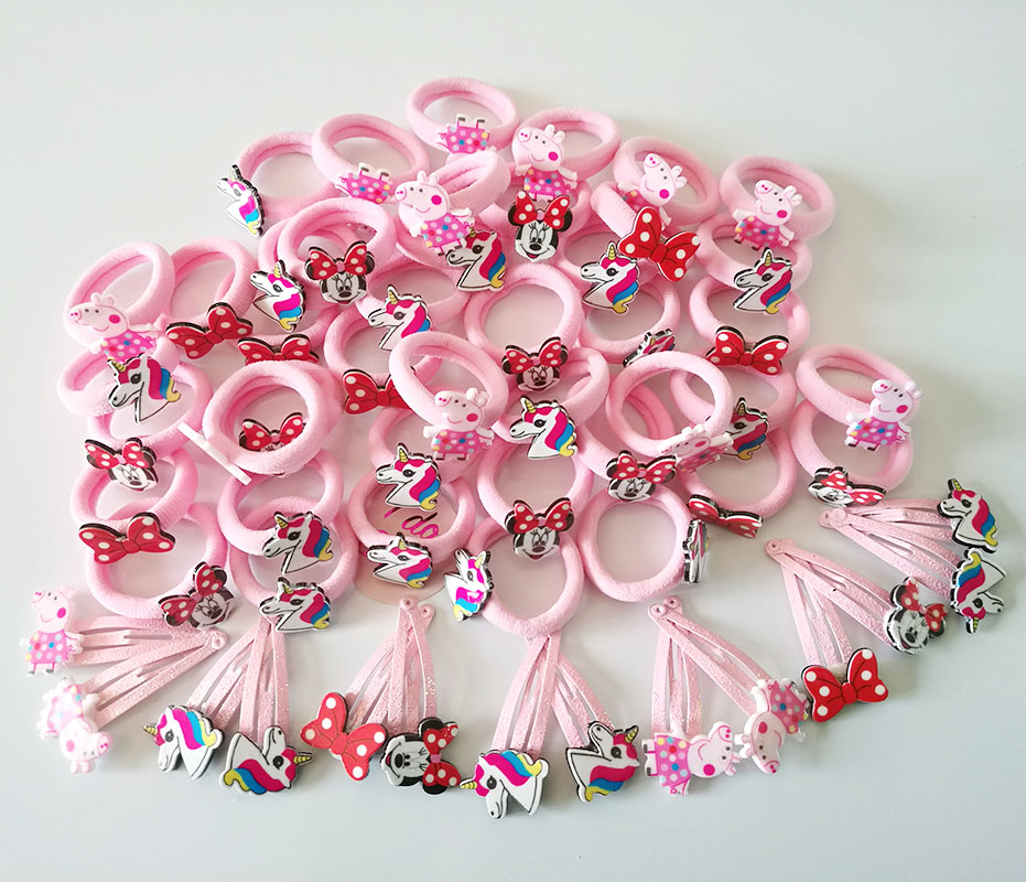 10pc Cartoon Set Basic Rubber Band Children Hairs