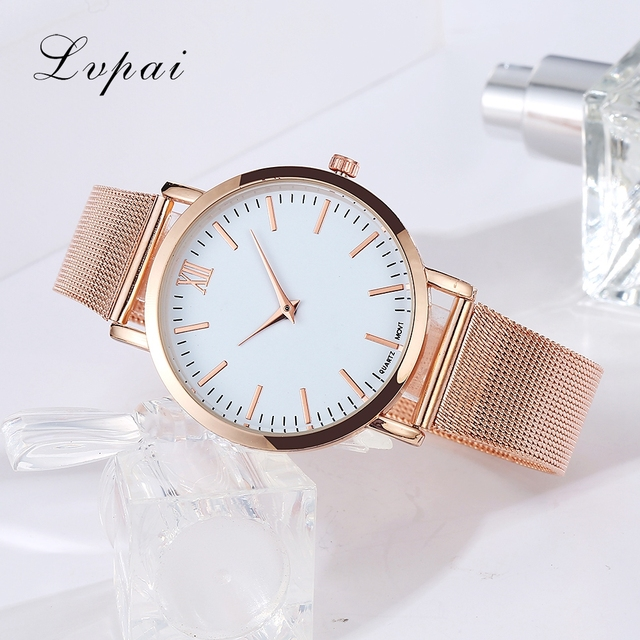 Lvpai Brand 2017 Luxury Women Gold Watch Fashion Bracelet Dress Watch Quartz Wristwatch Ladies Casual Sport Business Watch 1