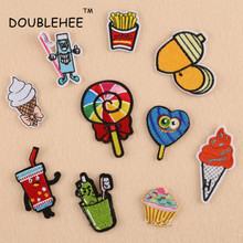 Bump Candy Children Toothbrush Patch Embroidered Iron On Patches Design Embroidery Motif T-shirt Bag Shoes Applique Accessories