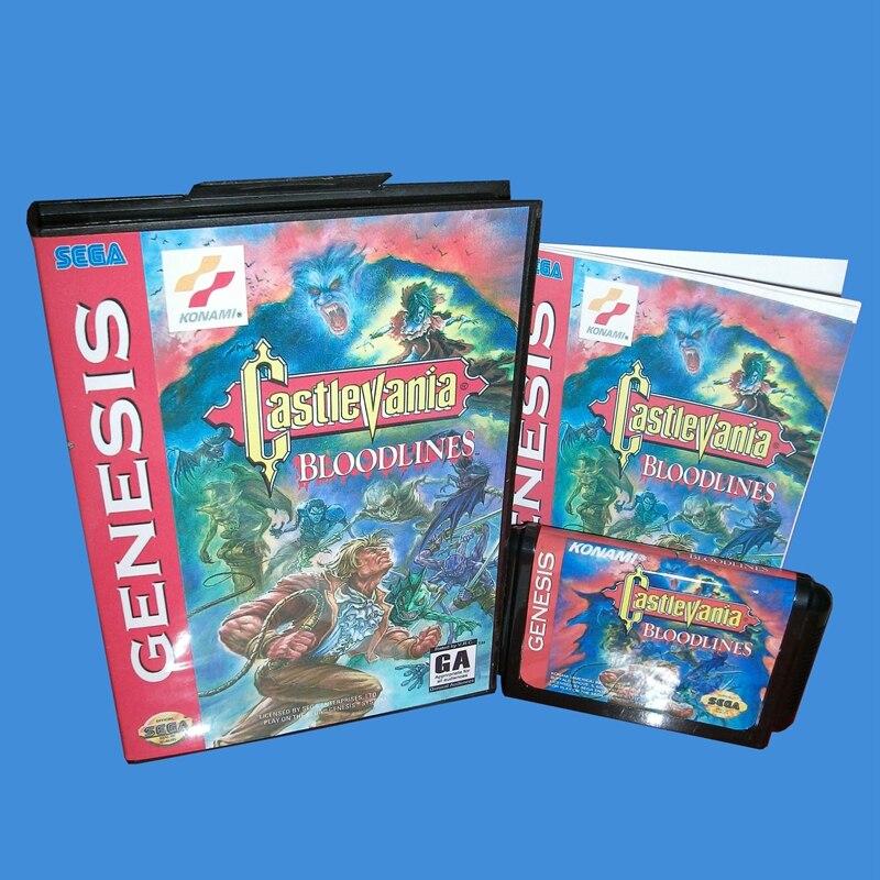 Castlevania Blutlinien NTSC-U Mit Box Und Manuelle 16bit MD Spiel Karte Für Sega Mega Drive Für Genesis