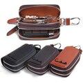 Classic New Double Zipper Men's Genuine Cow Leather Car Key Holder Multifuncation Housekeeper High Class Motor Keys Case Wallets