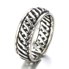 100% 925 sterling silver fashion thai silver retro style men`s finger wedding rings jewelry man open party ring drop shipping ковер в берберском стиле kowalska