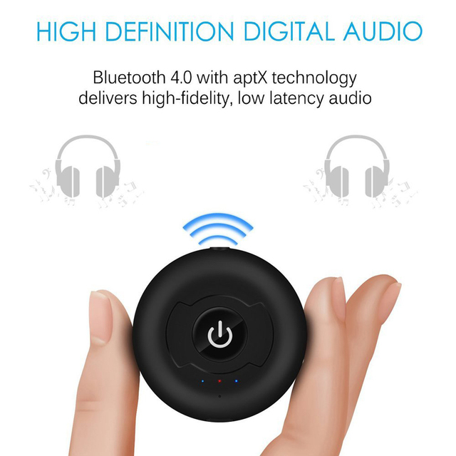 Nuevo 1 unids/lote Bluetooth 4.0 multipunto Bluetooth Audio Música Transmisor Emisor de Señal para Smart TV/DVD/MP3 De 10 metros 34%