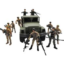 10cm  Military Special Forces Soldiers Bricks Figures Building Blocks Multi Joint Movable Toy Soldier With Decoration Toy