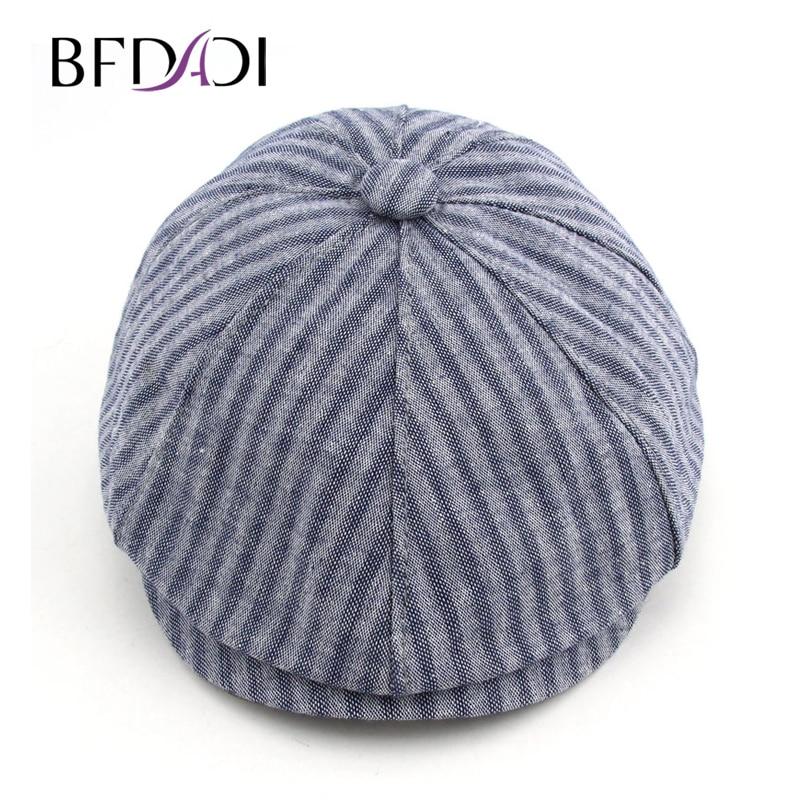 BFDADI 2018 primavera y verano moda para hombres Newsboy Caps rayado tapa  boina 6 colores Newsboy sombrero tamaño 57 -60 cm - Blog Store ba72d9ceb4d