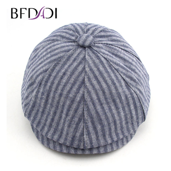BFDADI 2018 primavera y verano moda para hombres Newsboy Caps rayado tapa  boina 6 colores Newsboy sombrero tamaño 57 -60 cm 513587f2fbb