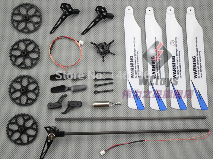 Rational Wltoys V966 V977 Rc Helicopter Spare Parts Bag Tai Motor Blades Big Gear Etc Tool Parts