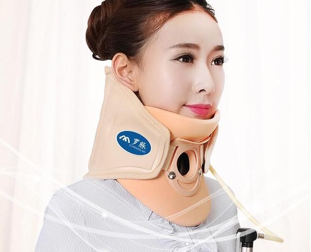Médica soporte de fijación se extendía las venas del cuello cervical apoyo de la tracción del cuello inflable Toro Genuino hogar cuello cervical protección