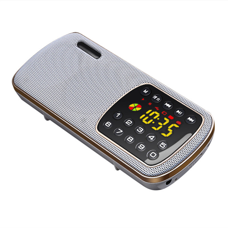 Radio FM MP3 Mini Portable Speaker Portable Music Player For The Elderly Support TF Card LED High-Definition Display Radios mini portable fm radio pocket mp3 player rechargeable tf card digital fm radio portable mp3 speaker fm receivers loudspeakers