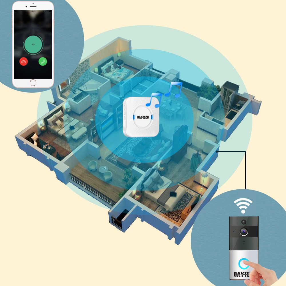 DAYTECH אלחוטי WiFi וידאו פעמון מצלמה IP טבעת דלת פעמון שתי דרך אודיו APP iOS אנדרואיד סוללה מופעל כרטיס אפשרות