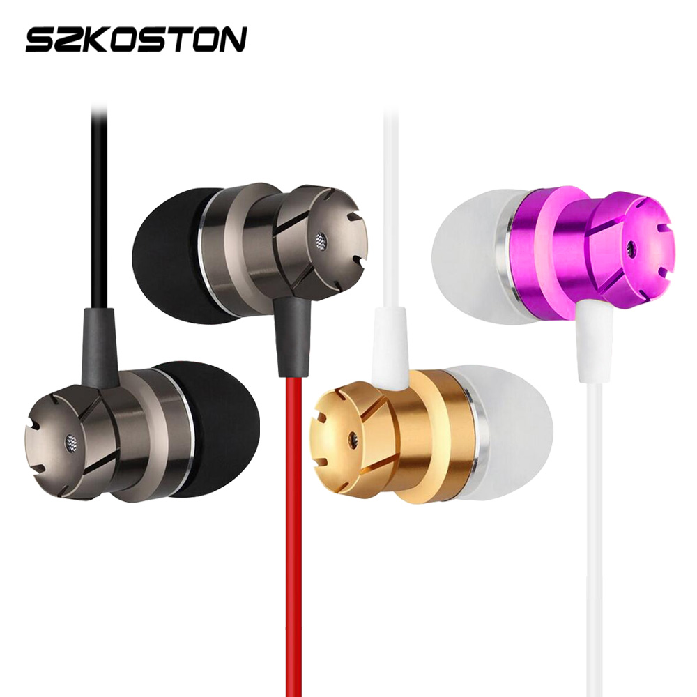 KST-T2 Turbine Metal Earphone With Mic 6 colors Red Black Gold Purple Silver Rose Handsfree Call For Android/IOS Smartphone PC kst x7 metal earphone 3d stereo with mic