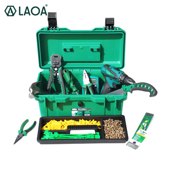 """LAOA Waterproof Tool Kit 15""""/17""""/19"""" Tool Box Two Layers Seal Box Shockproof Case Plastic Toolbox Portable Suitcase For Tools"""