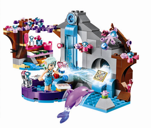 10410 Girl Naida's Spa Secret Building Blocks Friends Buildable brick Educational toys Compatible with lego girl kid gift Elves lepin 02012 city deepwater exploration vessel 60095 building blocks policeman toys children compatible with lego gift kid sets