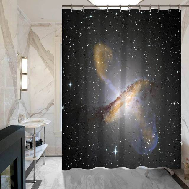 SunnyRain 1 Piece Universe Shower Curtains Fadeless Water Resistant Curtain Polyester Bathroom 175x180