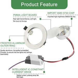 Image 3 - Kaguyahime 1pc/4pcs 3W 15W LED Downlight 110V 220V Round LED Ceiling Recessed Spot Light 5W 7W 9W 10W 12W 15W Aluminum Surface