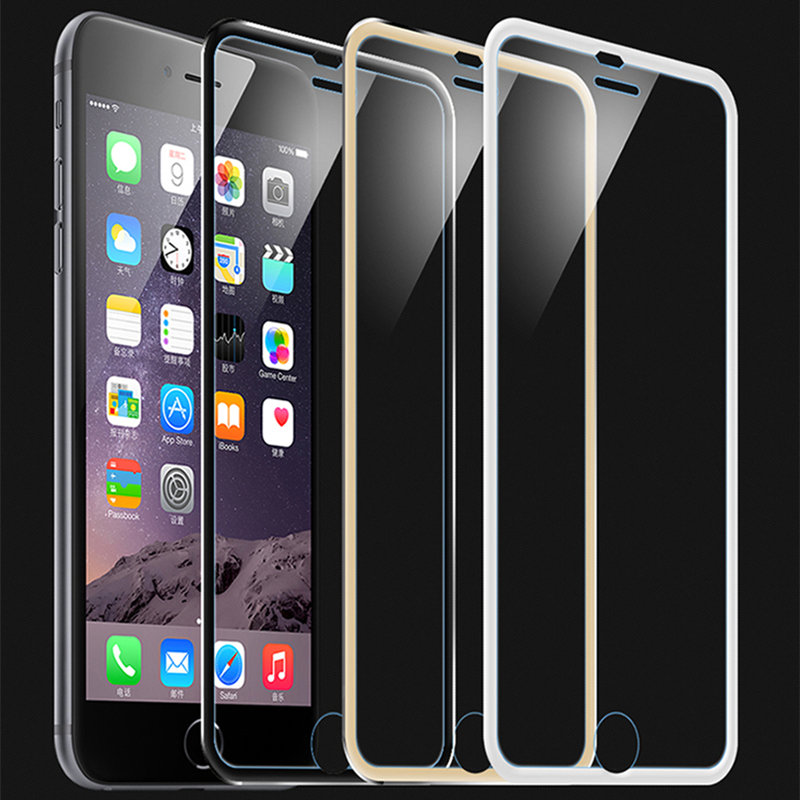 968fc0f3e0fbc0 Eqvvol 3D Cured Edge For Apple iPhone 6 6S Tempered Screen Protector Full  Cover Black Silver Gold 9H Film Titanium Anti crack-in Phone Screen  Protectors ...