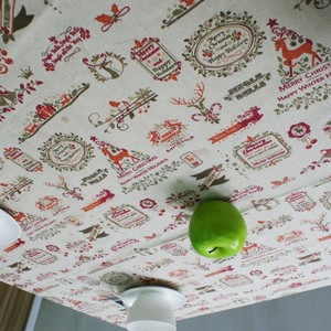 Image 2 - Nordic Christmas Table Cloth Cotton Linen Lace Edging Happy Holiday Kitchen Dining Table Cover Xmas Table Decor New Year Party