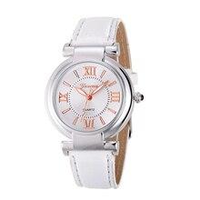 2017 Moda erkek saat Relógio de Quartzo Algarismos Romanos Pulseira de Couro Banda relógio de Pulso Da Menina Das Mulheres da venda Quente Relógios Relogio