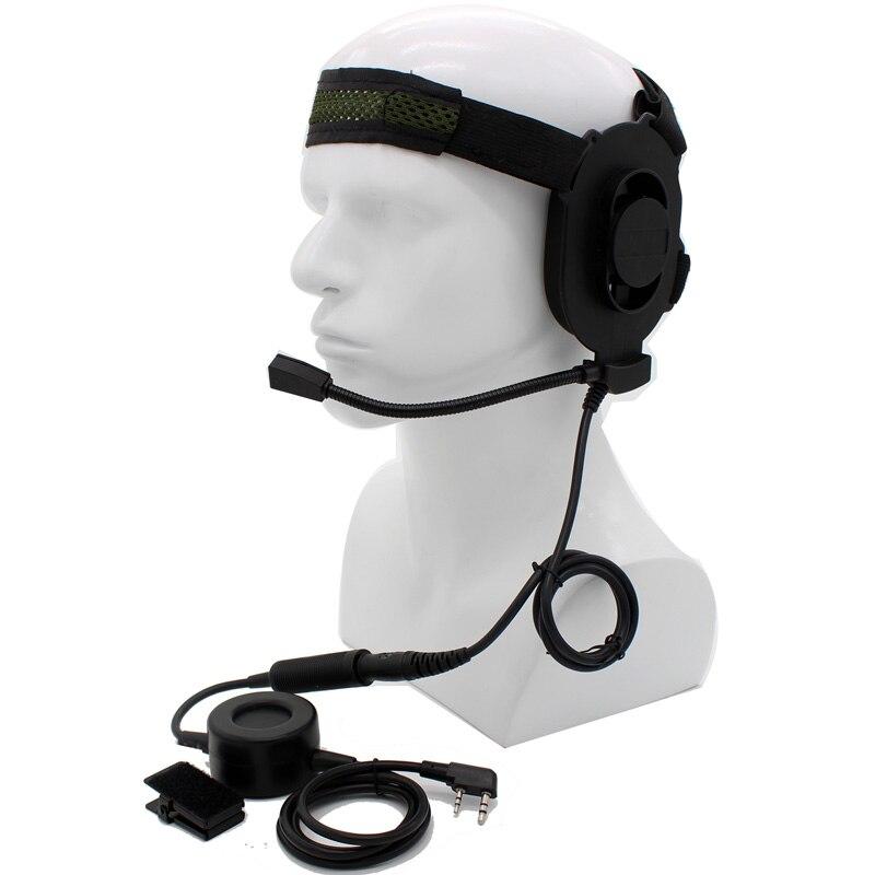 bilder für Xqf hd01 z taktische bowman elite ii großen ptt headset für kenwood radio baofeng uv-5r gt-3 uv82 wouxun puxing tyt walkie talkie