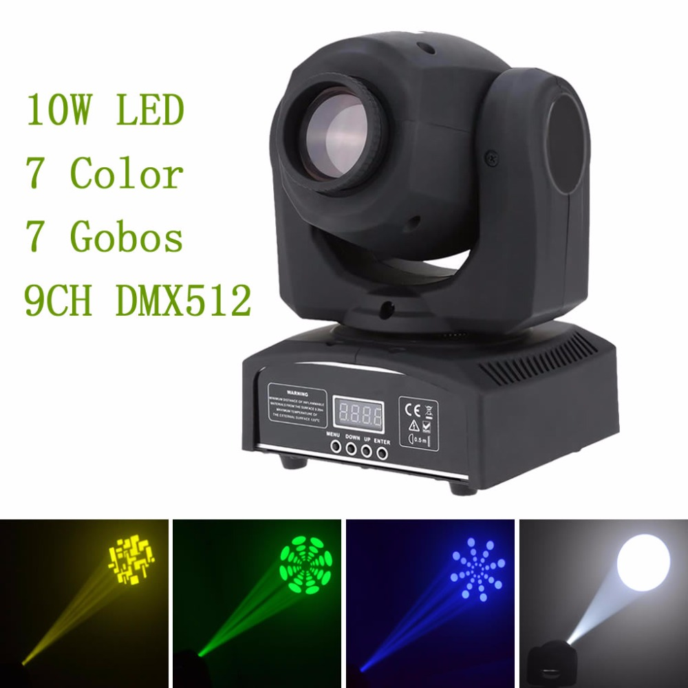 AUCD Mini 10W 30W RGBW LED Gobos Moving Head Stage Light DMX Professional 9/11 CH Party Disco Show DJ Club Lighting