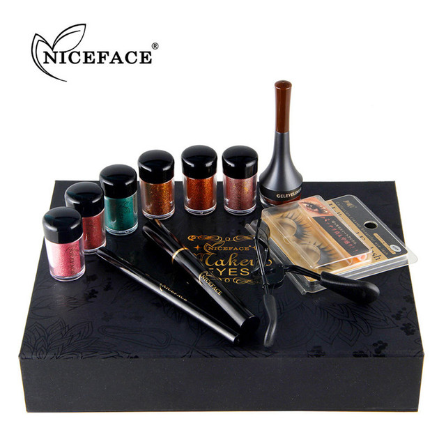 nice face brand high end christmas gifts sexy eyes makeup set with christmas card