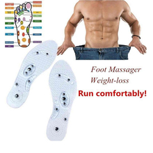 Demine Magnetic Therapy Insoles Silicone Anti-fatigue Health Care Massage Slimming Weight Loss Insole Transparent Foot