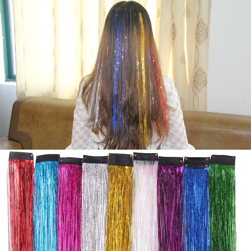 Rainbow Girls Colorful Wigs Ponytail Hair Ornament Headbands Laser Hair Bands   Headwear   Kids Hair Accessories Hair extension