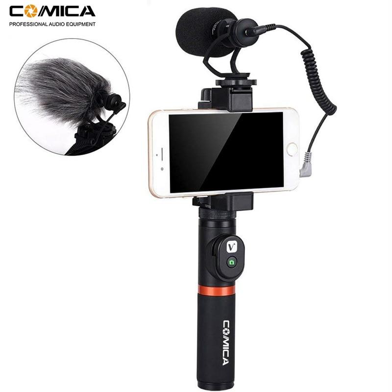 Comica Smartphone Video Rig Kit CVM-VM10-K3 Filmmaker Handle With Mini Phone Video Microphone For IPhone Samsung LG Huawei Etc.
