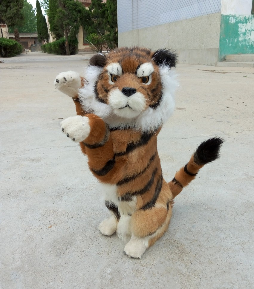 simulation cute standing tiger 45x26cm model polyethylene&furs tiger model home decoration props ,model gift d433 simulation cute squatting cat 35x28x26cm model polyethylene
