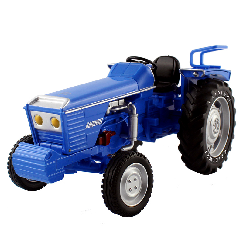 Alloy Diecast Tractor Farm Truck 1:18 Wheel and Catepillar with Trailers Retro Car Model Collection For Kids Hobby Toys