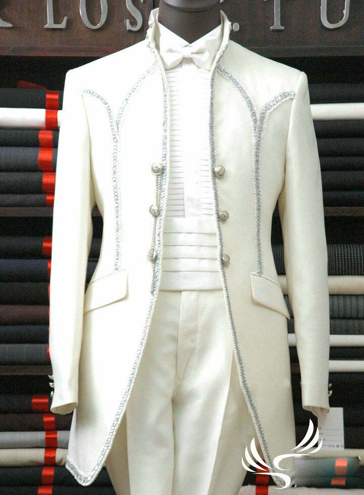 Mens Wedding Dress Suit Bridal Tuxedos Formal Groom Suits Business Suits Custom in Suits from Men 39 s Clothing