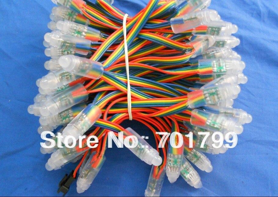 IP68 DC12V вход 12 мм сквозное отверстие светодиодный узел сброса RGB узел; 100 шт. нитке
