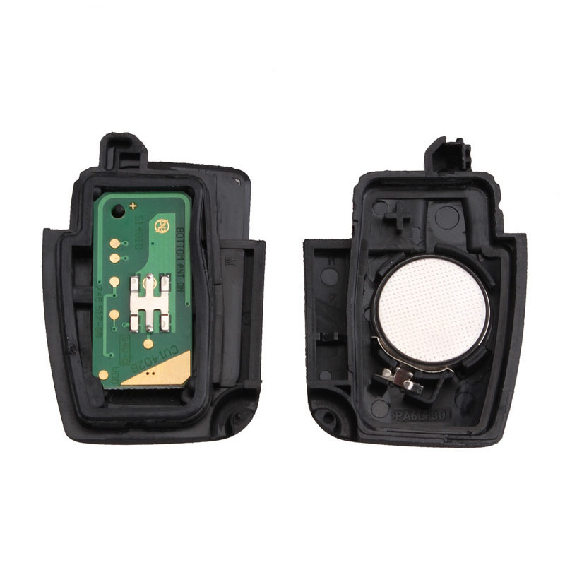 Image 3 - BHKEY 433Mhz 3Buttons Folding Remote Car key For Ford 4D60 4D63 Chip For Ford Focus 2 3 mondeo Fiesta key Fob HU101 Blade-in Car Key from Automobiles & Motorcycles