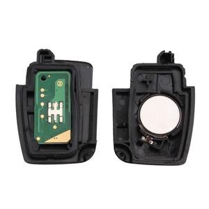 Image 3 - Bhkey 433mhz 3ボタン折りたたみ車のキーフォード4D60 4D63フォードフォーカス2 3モンデオフィエスタキーfob HU101刃